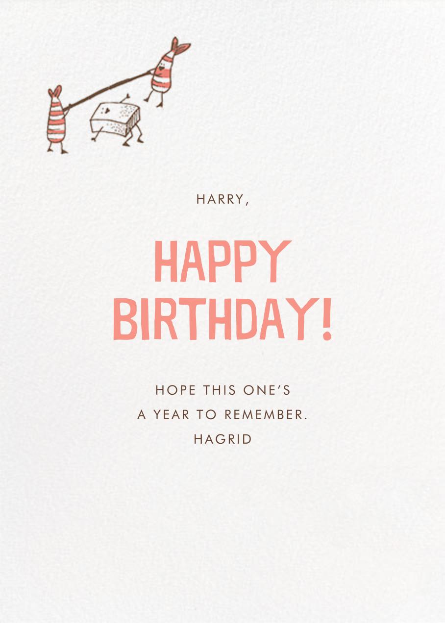 Wokkin' Birthday - Hello!Lucky - Funny birthday eCards - card back