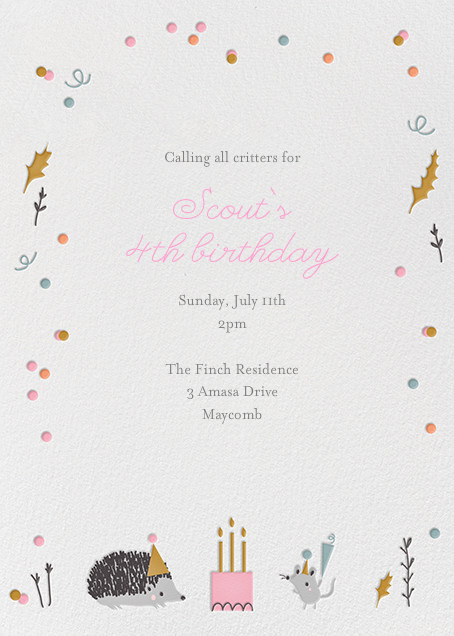 Forest Birthday Party - Hedgie - Little Cube - Kids' birthday