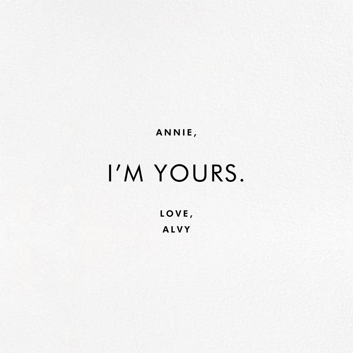Can't Get You Outta My Head (Photo) - White - Paperless Post - Valentine's Day - card back