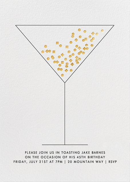 Confetti Martini - Paperless Post - Adult birthday