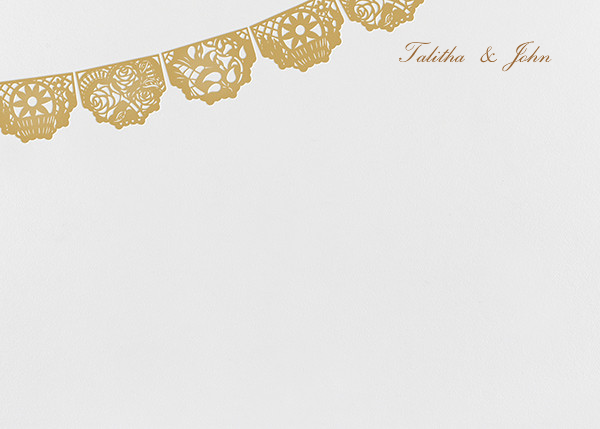 Tulum (Stationery) - White/Apricot - Paperless Post - Personalized stationery