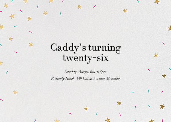 Starfetti - Gold - Paperless Post - Adult birthday