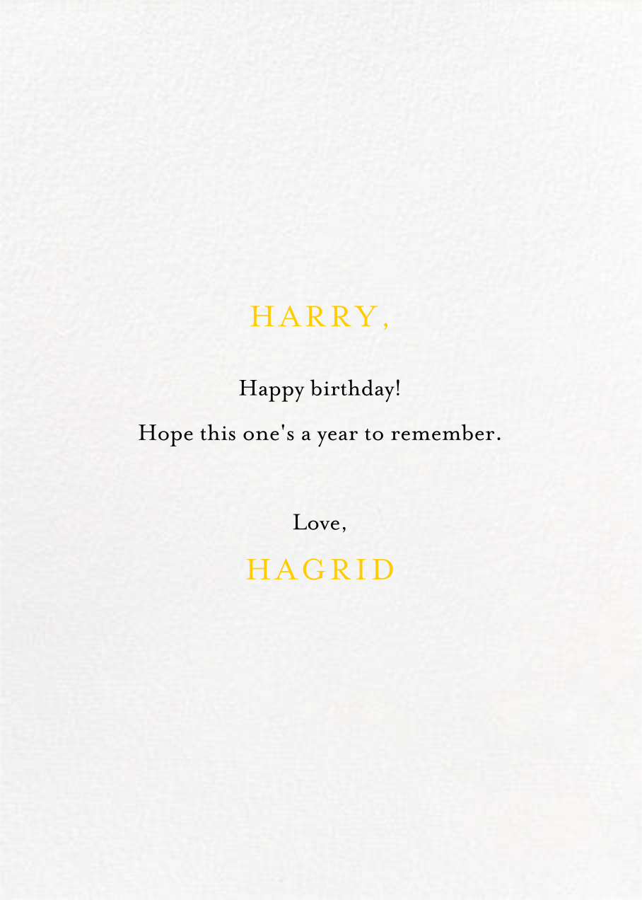 Sunshine - Mr. Boddington's Studio - Birthday - card back