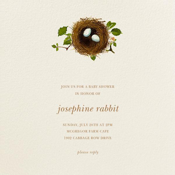 Nest Eggs - Felix Doolittle - Woodland baby shower invitations