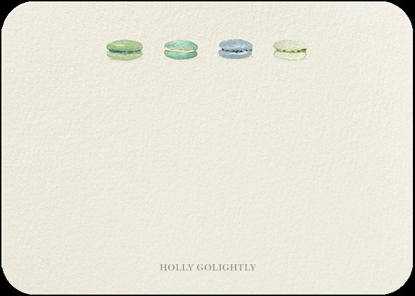 Macarons Quartet - Blue - Felix Doolittle - Personalized stationery