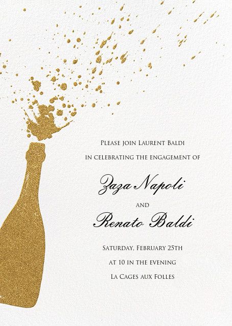 Champers - Paperless Post - Engagement party