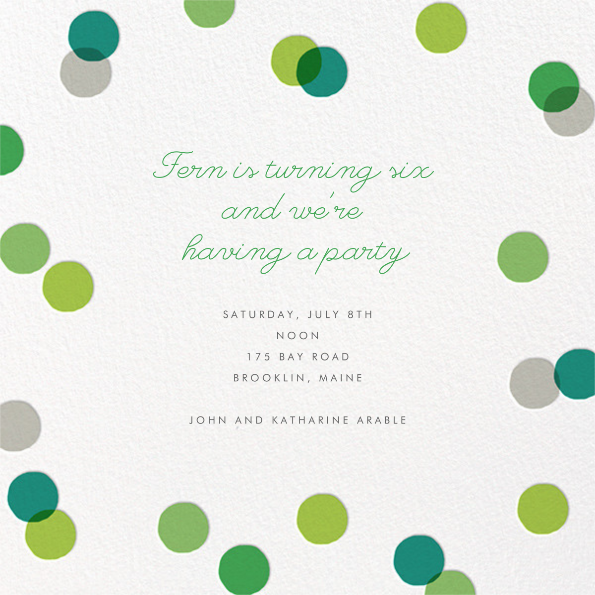 Carnaby (Photo) - Green - Paperless Post - Kids' birthday - card back