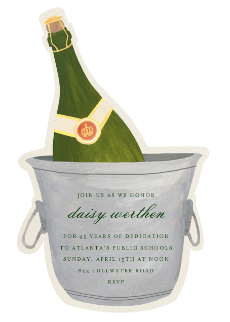 Champagne Bottle - Paperless Post - Retirement party