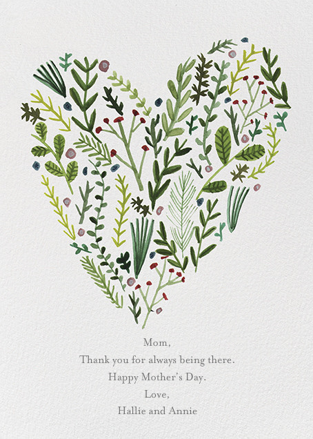 Floral Heart (Lizzy Stewart) - Red Cap Cards - Mother's Day