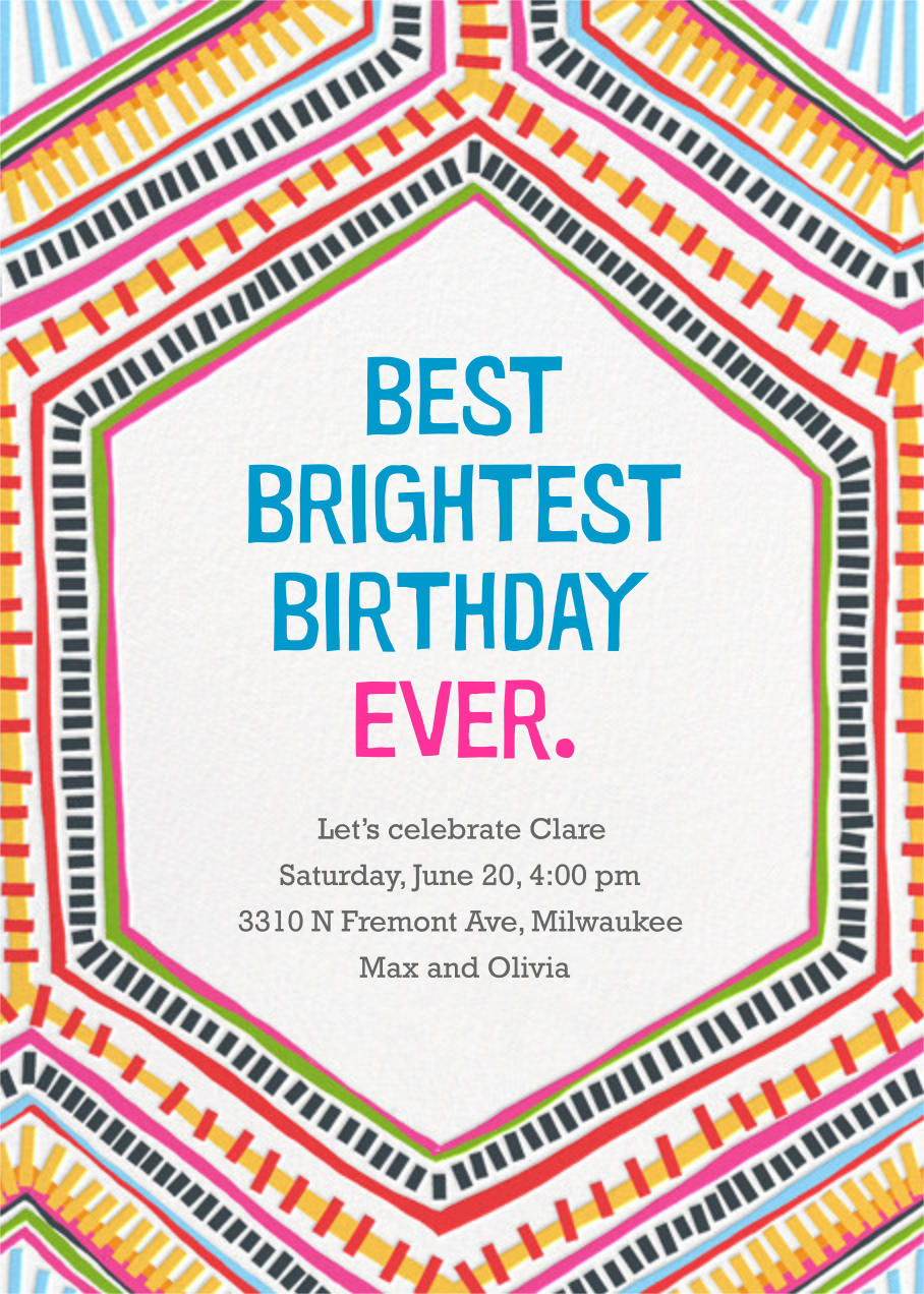 Best Brightest Ever - Crate & Barrel - Adult birthday