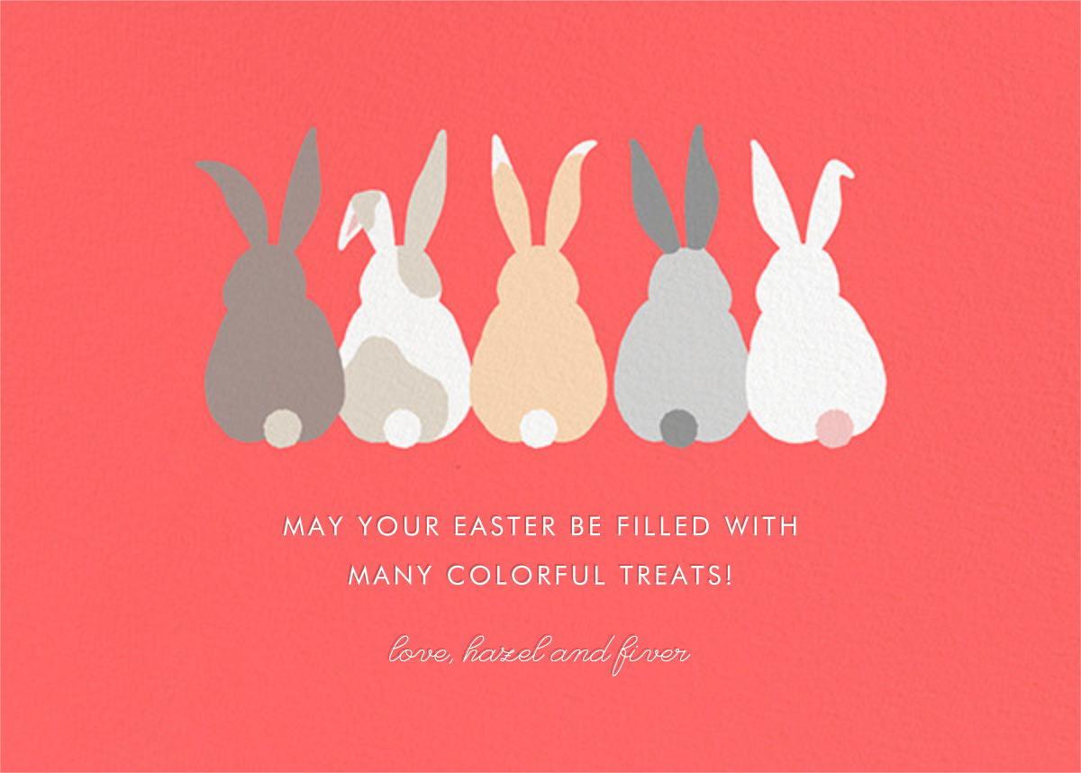 Bunny Bums (Greeting) - Paperless Post