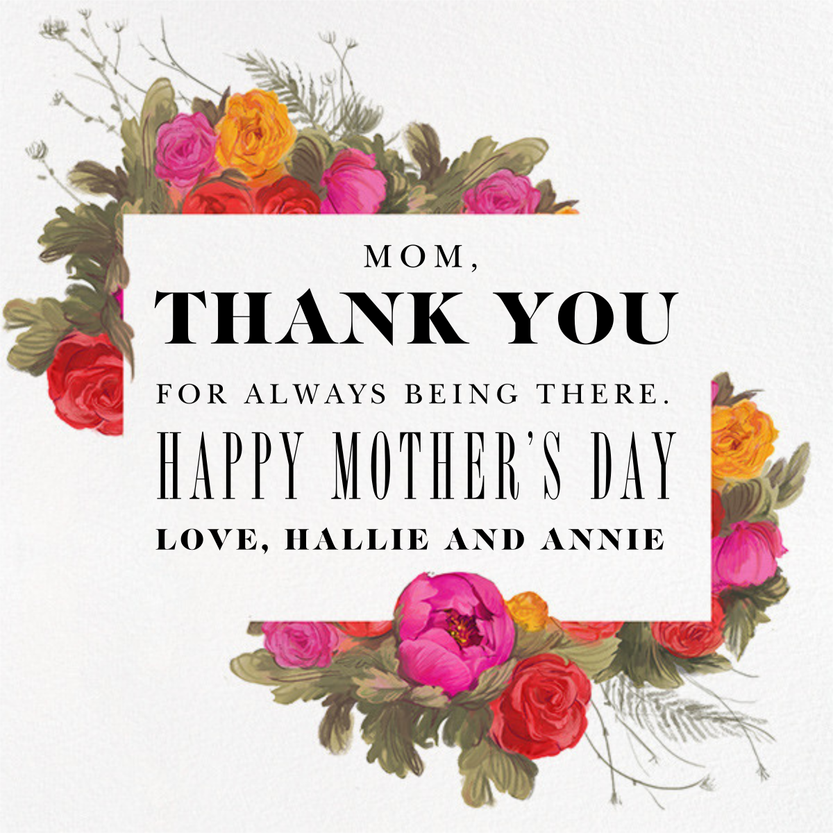 Happy (Grand)mother's Day - Paperless Post - Back