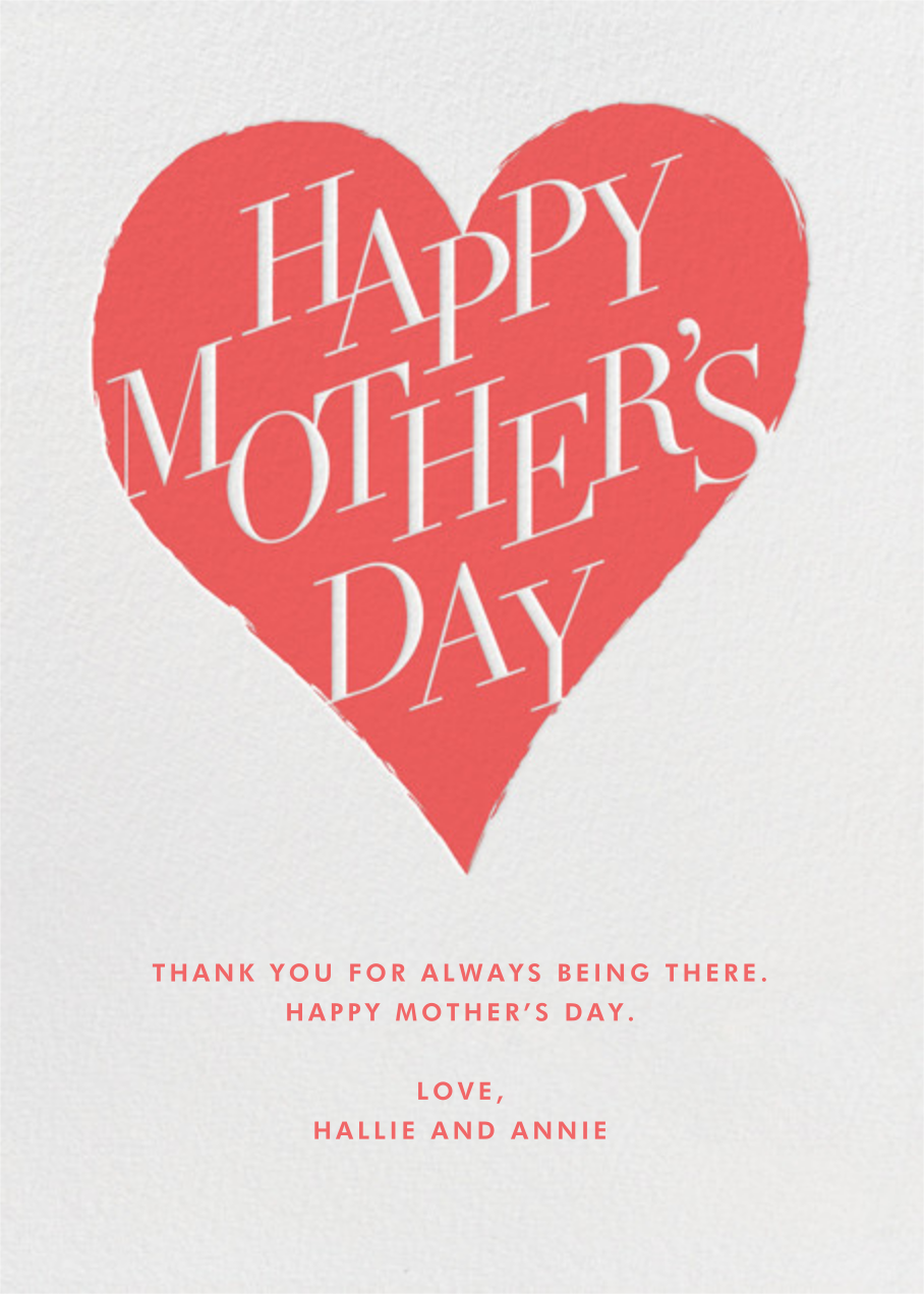 Mother's Day Heart - Paperless Post - Mother's Day