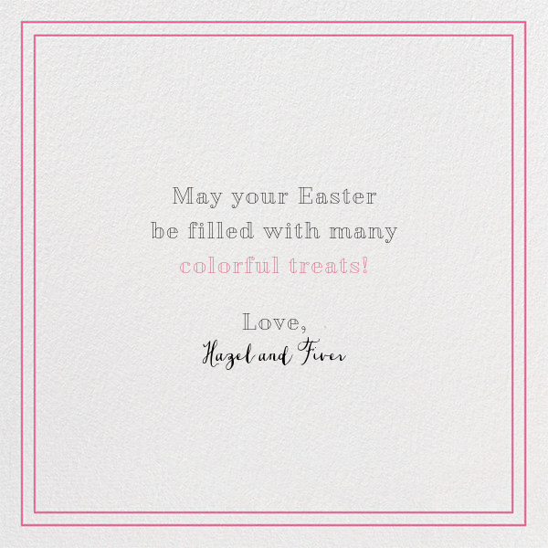 Pink Pair - Paperless Post - Easter - card back