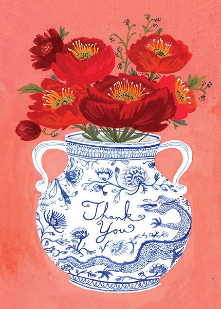 Dragon Vase (Becca Stadtlander) - Red Cap Cards - Graduation thank you cards
