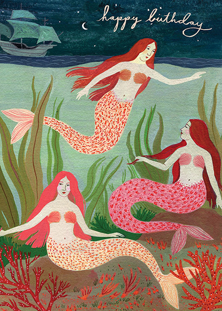 Mermaids (Becca Stadtlander) - Red Cap Cards - Designs we love
