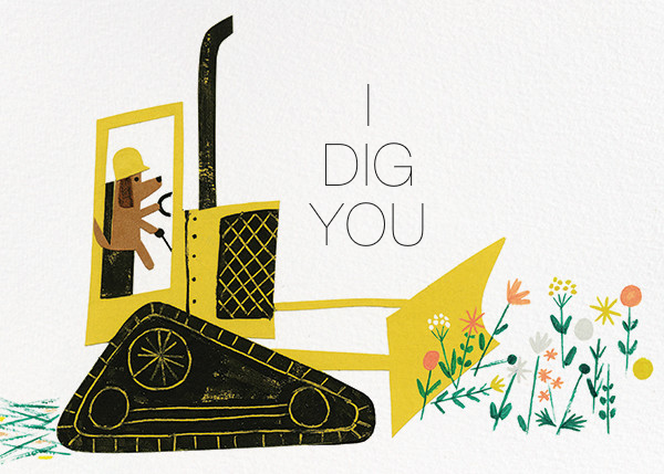I Dig You (Christian Robinson) - Red Cap Cards - Classroom valentines