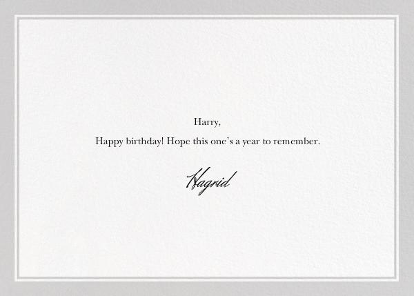 Dog Birthday - The New Yorker - Birthday - card back