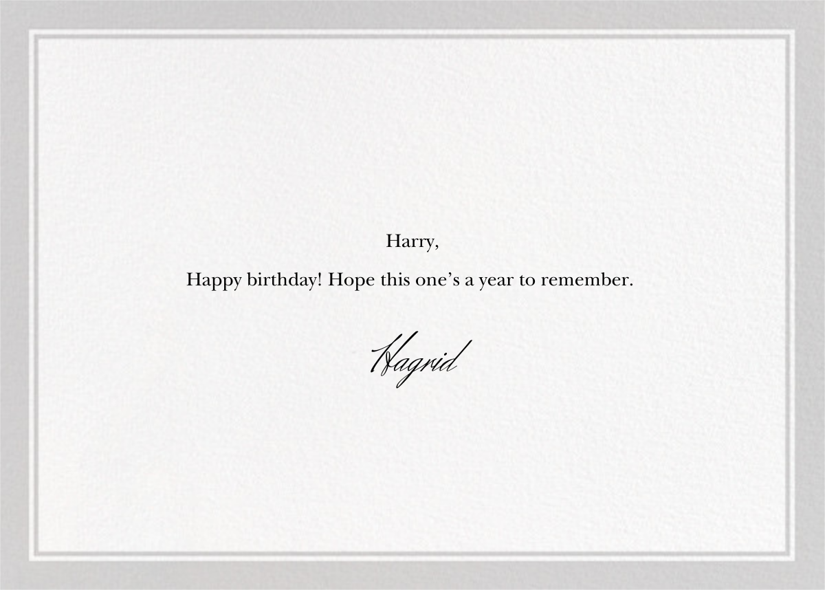 Forgetful Elephant - The New Yorker - Funny birthday eCards - card back