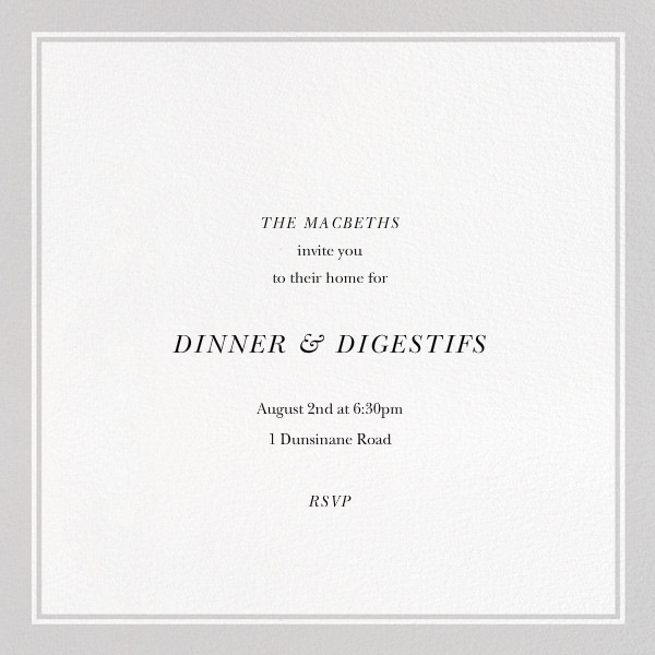 More Wine - The New Yorker - Dinner party - card back