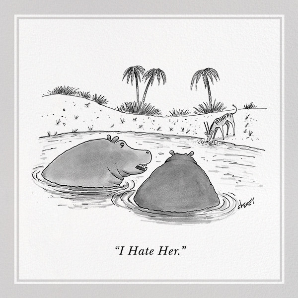 Hippos - The New Yorker - Just because