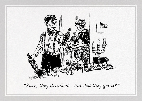 Did They Get It? - The New Yorker - Cocktail party