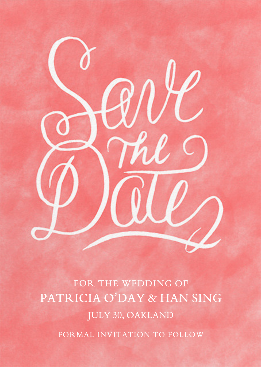 Watercolor Save the Date - Crate & Barrel - Party save the dates