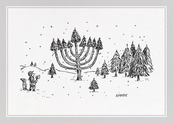 Tree Menorah - The New Yorker - Hanukkah