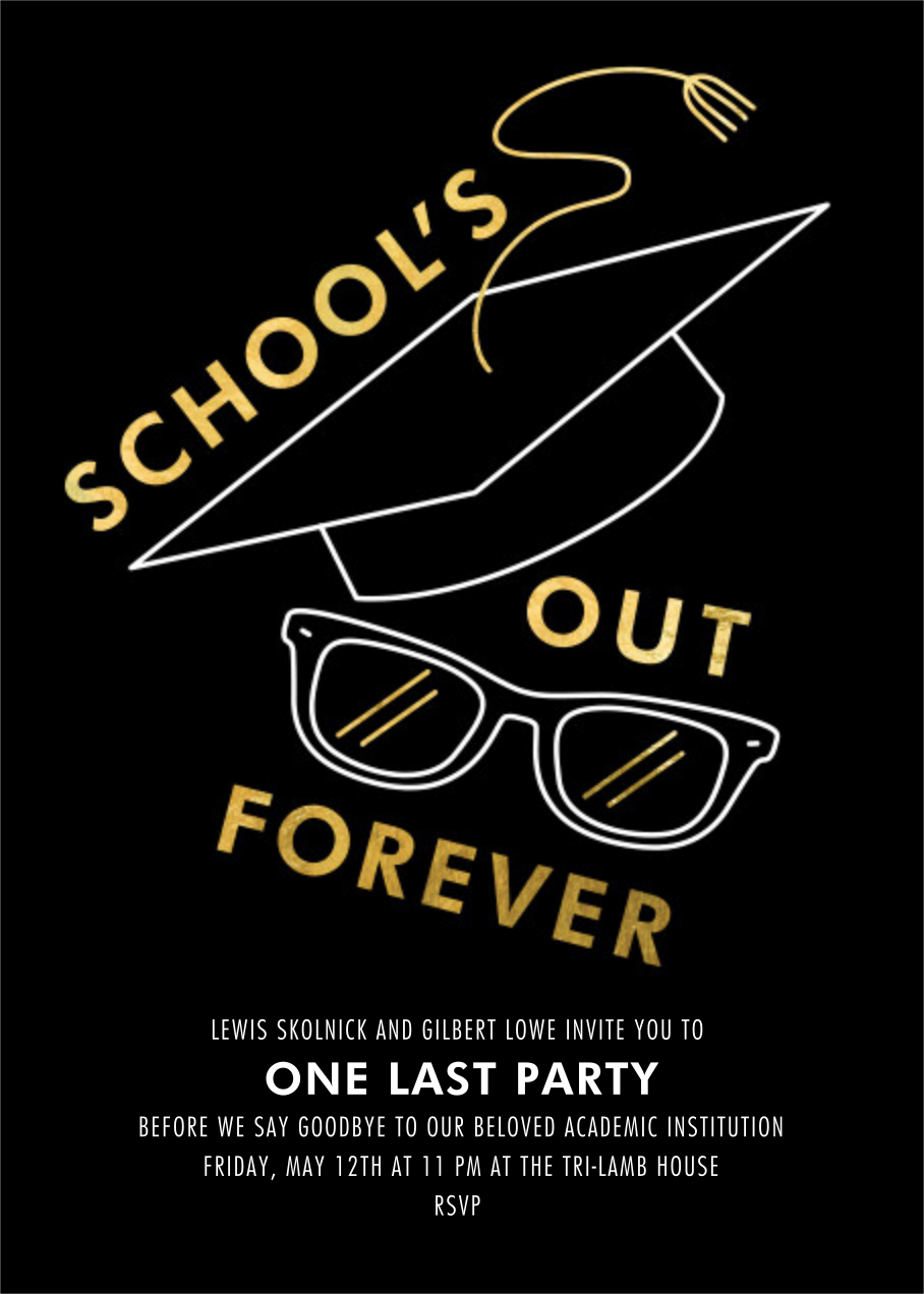 Too Cool for School - Paperless Post - Graduation party