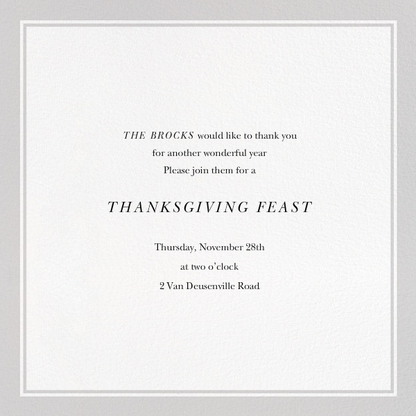 Stuffed Turkey - The New Yorker - Thanksgiving - card back