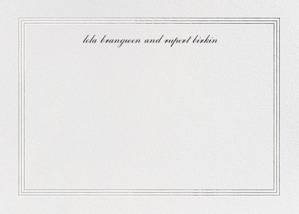 Triple Interior Border (Horizontal) - Silver - Paperless Post