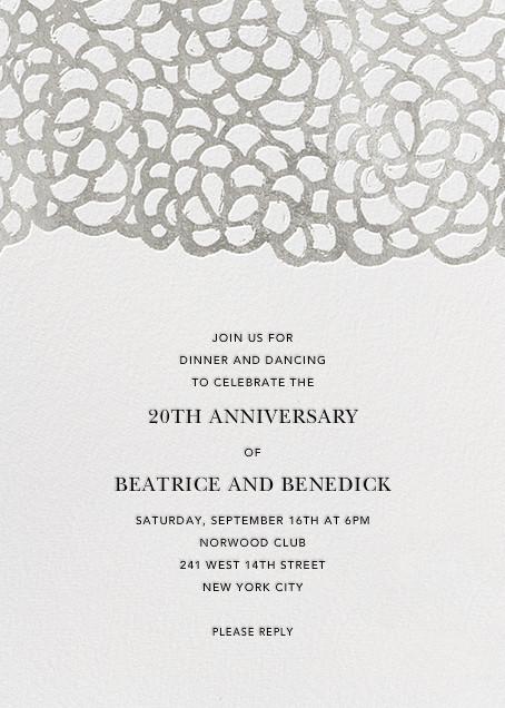 Gardenia - White/Silver - Oscar de la Renta - Anniversary party