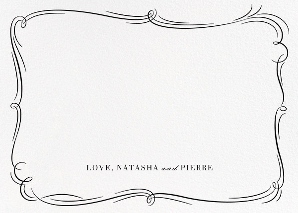 Plume (Photo Stationery) - Silver - Paperless Post - Wedding stationery - card back