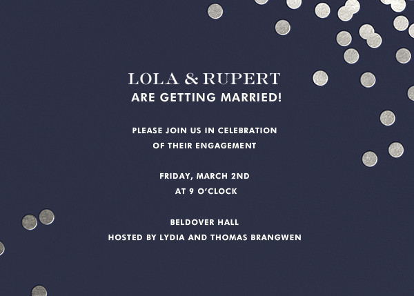 Confetti - Navy/Silver - kate spade new york - Engagement party