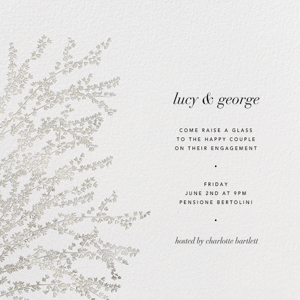 Forsythia - Silver - Paperless Post - Engagement party