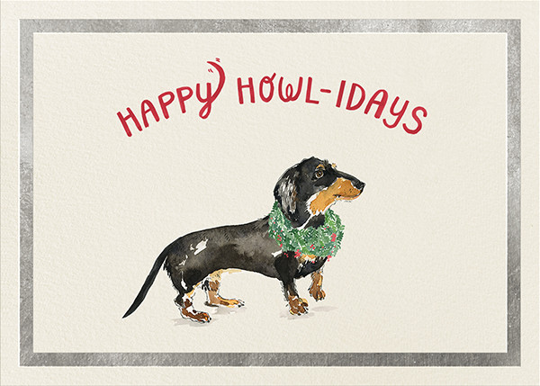 Happy Howlidays - Silver - Derek Blasberg - Holiday cards