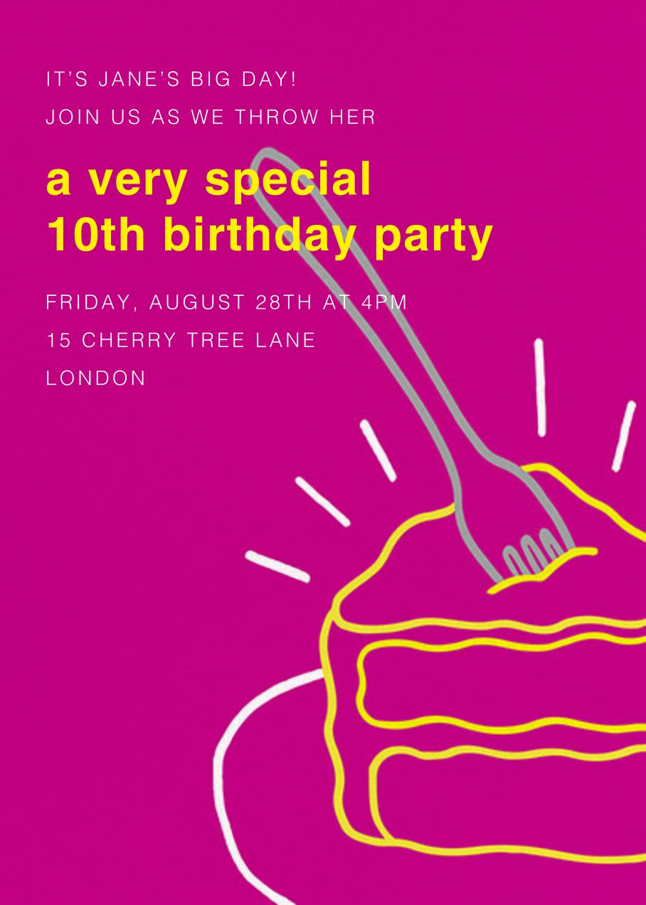 Radiant Birthday Cake - Paperless Post - Kids' birthday