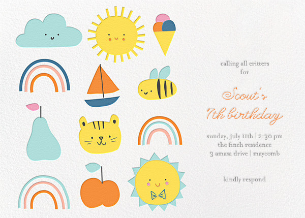 Party Weather (Invitation) - Little Cube - Kids' birthday