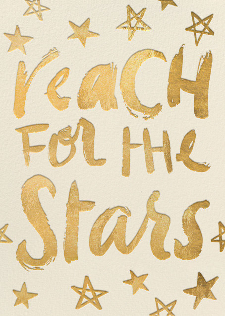 Reach for the Stars - Gold (Greeting) - Hello!Lucky - Graduation