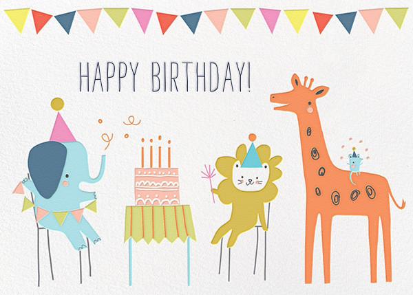 Jungle Birthday Bash (Greeting) - Little Cube - Birthday