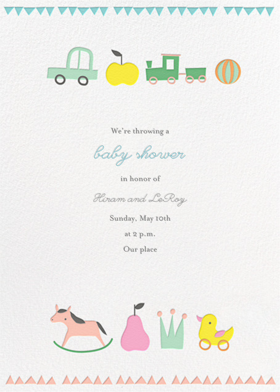 Toy Parade (Tall) - Little Cube - Baby shower