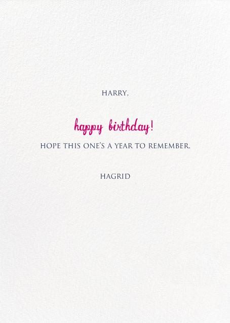 A Big Mackerel - Fair - Mr. Boddington's Studio - Birthday - card back