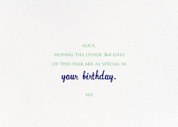 Balloons for the Bug - Mr. Boddington's Studio - Birthday - card back