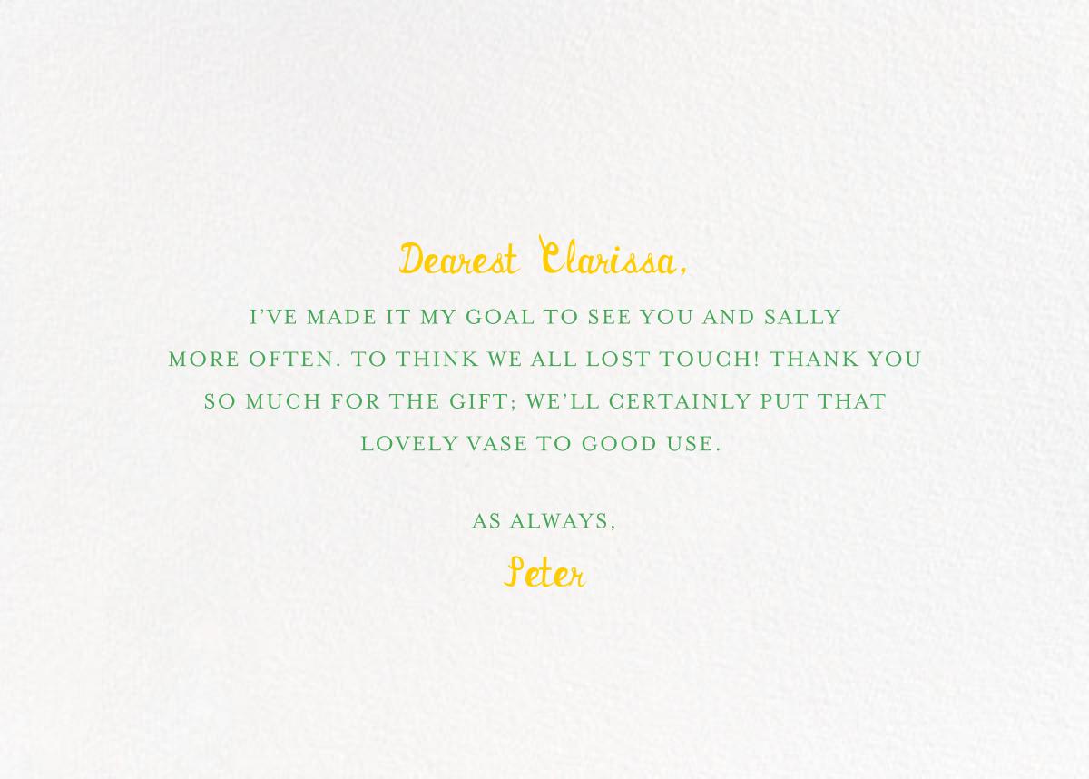 Pineapple for My Hostess - Mr. Boddington's Studio - Thank you - card back