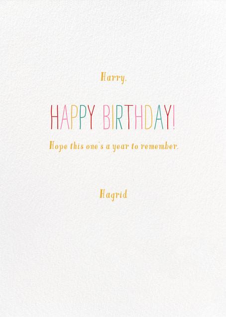 Worldly Birthday - Mr. Boddington's Studio - Birthday - card back