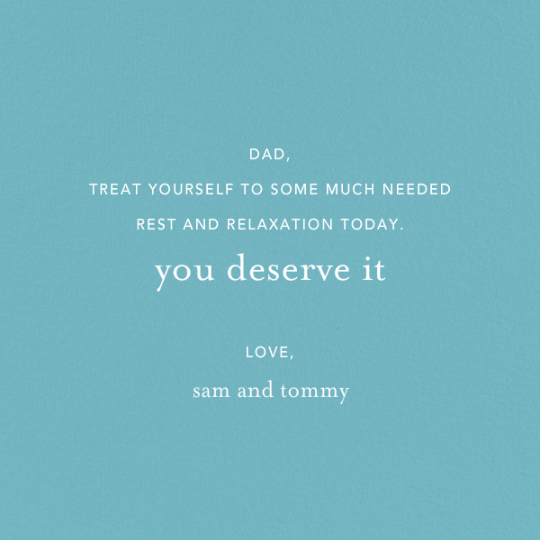 Awesome Dad - Ashley G - Father's Day - card back