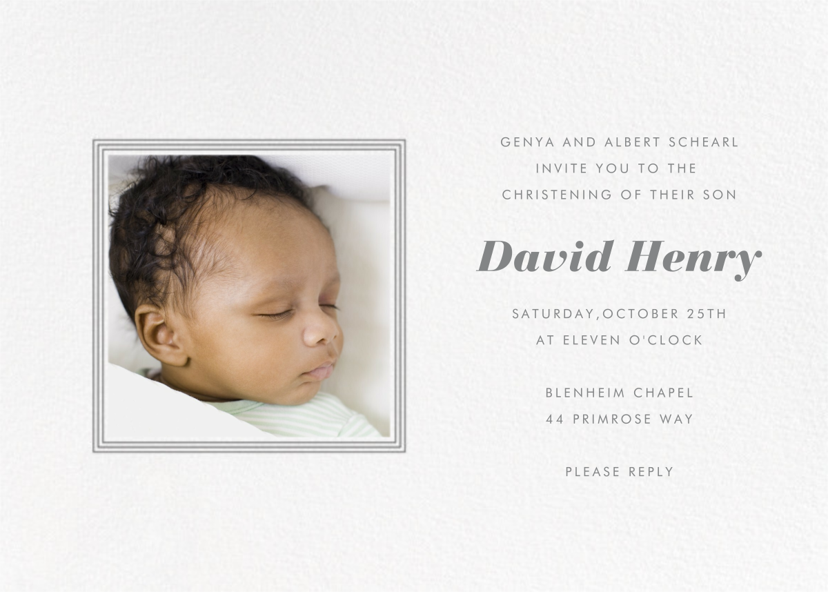 Square Frame (Horizontal) - Gray - Paperless Post - Baptism