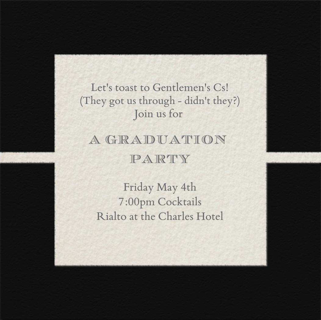Geometric - Paperless Post - Graduation party