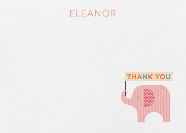 Elephant (Stationery) - Pink - Petit Collage - Kids' stationery