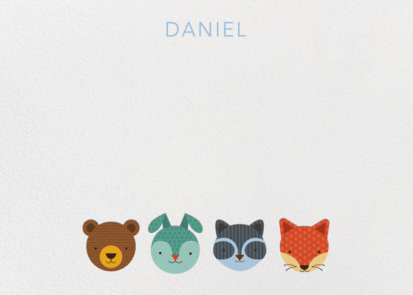 Faces (Stationery) - Petit Collage - Kids' stationery